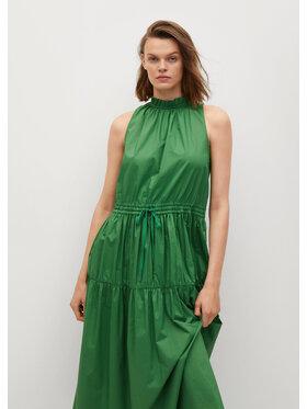 Mango Mango Sukienka letnia Zita 87008640 Zielony Regular Fit