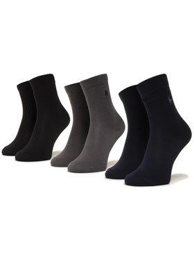 Polo Ralph Lauren Polo Ralph Lauren Σετ ψηλές κάλτσες παιδικές 3 τεμαχίων 444803235001 Μαύρο