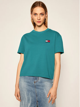 Tommy Jeans Tommy Jeans T-shirt Badge Tee DW0DW06813 Verde Regular Fit