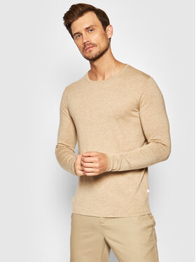Selected Homme Selected Homme Megztinis Rome 16079774 Smėlio Regular Fit