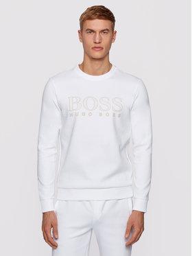 Boss Boss Felpa Salbo Iconic 50448186 Bianco Slim Fit