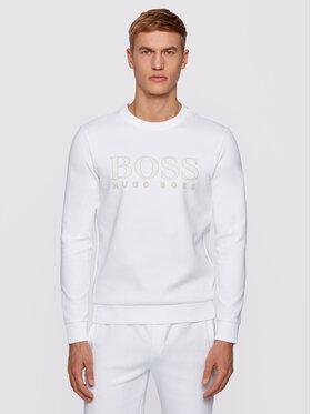 Boss Boss Majica dugih rukava Salbo Iconic 50448186 Bijela Slim Fit