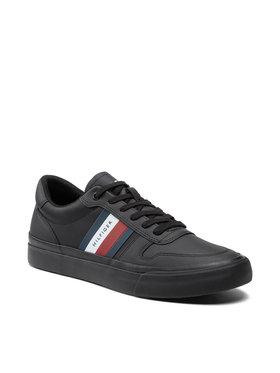 Tommy Hilfiger Tommy Hilfiger Sneakersy Core Corporate Stripes FM0FM03623 Czarny