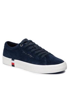 Tommy Hilfiger Tommy Hilfiger Sneakersy Corporate Modern Suede Vulc FM0FM03728 Granatowy