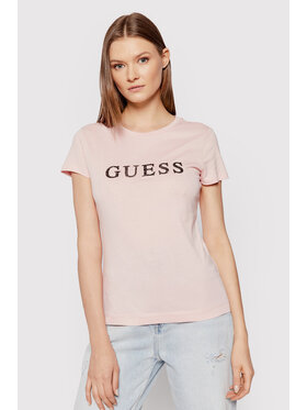 Guess Guess T-shirt Kimetz W1BI06 JA911 Ružičasta Regular Fit