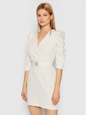 Rinascimento Rinascimento Koktejlové šaty CFC0101985003 Béžová Slim Fit