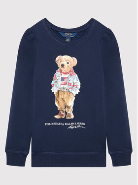 Polo Ralph Lauren Polo Ralph Lauren Mikina Bear 311850652002 Tmavomodrá Regular Fit