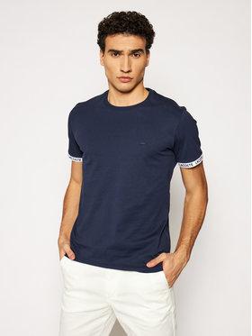 Lacoste Lacoste Marškinėliai TH0144 Tamsiai mėlyna Slim Fit