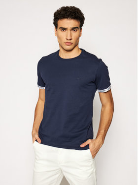 Lacoste Lacoste T-shirt TH0144 Tamnoplava Slim Fit
