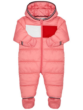 TOMMY HILFIGER TOMMY HILFIGER Kezeslábas Baby Flag KN0KN01160 Rózsaszín Regular Fit