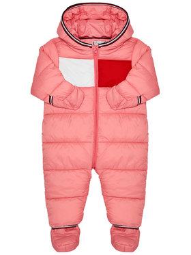 TOMMY HILFIGER TOMMY HILFIGER Overal Baby Flag KN0KN01160 Růžová Regular Fit