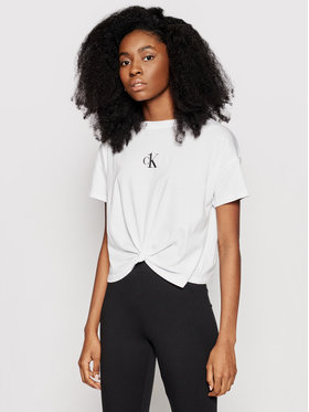 Calvin Klein Swimwear Calvin Klein Swimwear Тишърт KW0KW01366 Бял Regular Fit