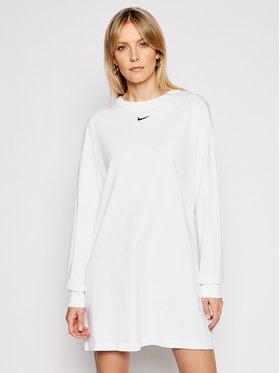 Nike Nike Ежедневна рокля Nsw Essential CU6509 Бял Loose Fit