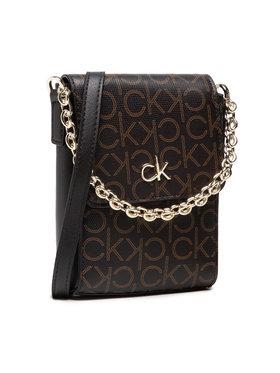 Calvin Klein Calvin Klein Дамска чанта Ns Mini Bag W/Flap Mono K60K608559 Кафяв