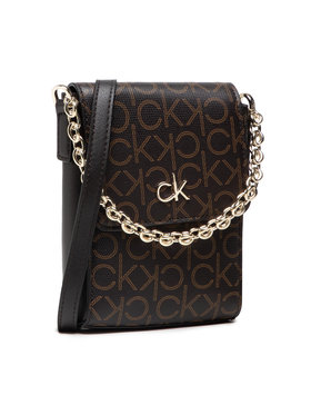Calvin Klein Calvin Klein Kabelka Ns Mini Bag W/Flap Mono K60K608559 Hnědá