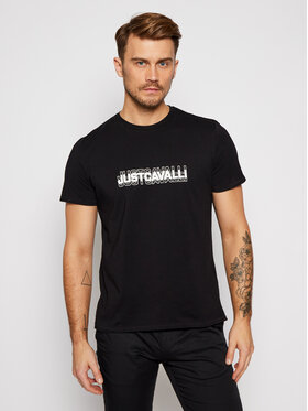 Just Cavalli Just Cavalli T-Shirt S01GC0644 Czarny Regular Fit