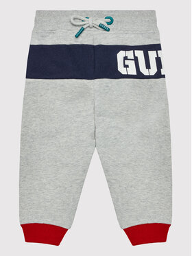 Guess Guess Spodnie dresowe N1BQ11 KAV30 Szary Regular Fit