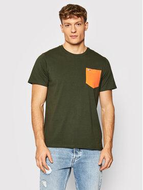 Tommy Jeans Tommy Jeans T-Shirt Contrast Pocket Tee DM0DM11439 Zelená Regular Fit