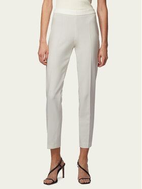 Boss Boss Pantalon en tissu Tiluna_Sidezip2 50405845 Blanc Slim Fit