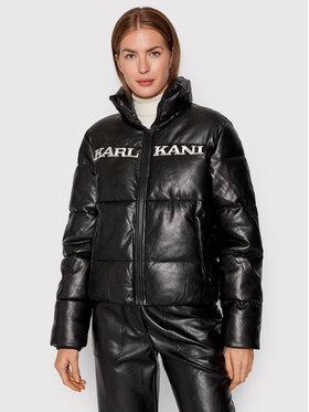 Karl Kani Karl Kani Kurtka z imitacji skóry Retro 6176364 Czarny Regular Fit