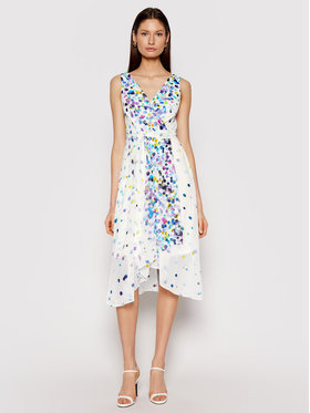 DKNY DKNY Letní šaty DD0DG576 Bílá Regular Fit