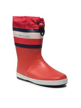 Tommy Hilfiger Tommy Hilfiger Guminiai batai Rain Boot T3X6-32105-1235 S Raudona