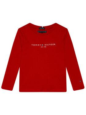 TOMMY HILFIGER TOMMY HILFIGER Bluzka Essential Tee KB0KB06105 D Czerwony Regular Fit