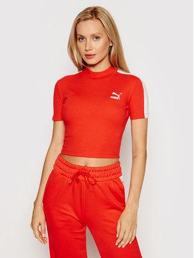 Puma Puma T-Shirt Classics Mock Neck 530229 Czerwony Slim Fit