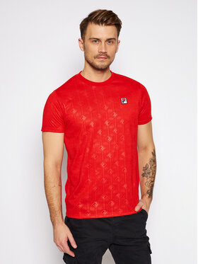 Fila Fila T-Shirt Henio Tee 687884 Czerwony Regular Fit