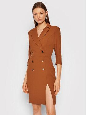 Rinascimento Rinascimento Robe de cocktail CFC0105023003 Marron Slim Fit