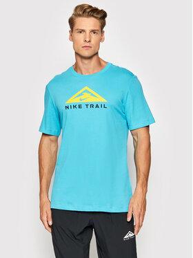 Nike Nike Marškinėliai Trail CZ9802 Mėlyna Standard Fit