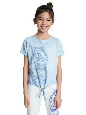 Desigual Desigual T-Shirt Tuxtepec 20SGTK86 Niebieski Regular Fit