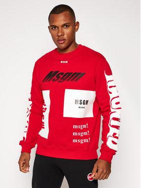 MSGM MSGM Majica dugih rukava 2940MM205 207599 Crvena Regular Fit