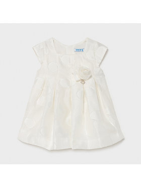 Mayoral Mayoral Elegantiška suknelė 1961 Balta Regular Fit