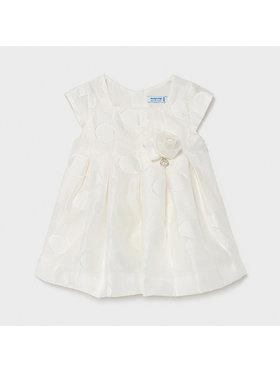 Mayoral Mayoral Elegantna haljina 1961 Bijela Regular Fit