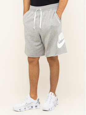Nike Nike Pantalon scurți din material Nsw French Terry Alumni Logo AR2375 Gri Loose Fit