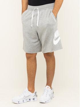 Nike Nike Pantaloncini di tessuto Nsw French Terry Alumni Logo AR2375 Grigio Loose Fit