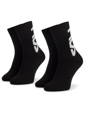 Fila Fila 2er-Set hohe Unisex-Socken Calza F9598 Schwarz