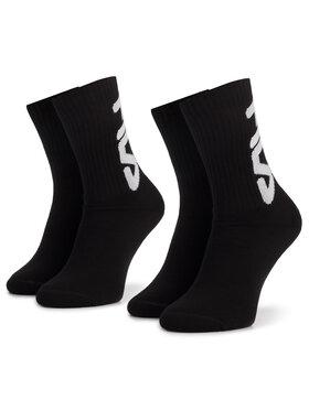 Fila Fila Lot de 2 paires de chaussettes hautes unisexe Calza F9598 Noir