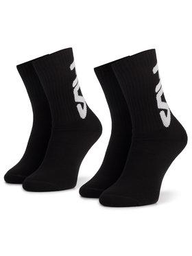 Fila Fila Súprava 2 párov vysokých ponožiek unisex Calza F9598 Čierna