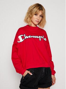 Champion Champion Μπλουζάκι Script Logo 113197 Κόκκινο Oversize