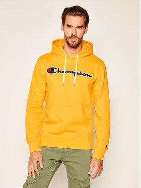 Champion Champion Bluza Script Logo 214183 Żółty Comfort Fit