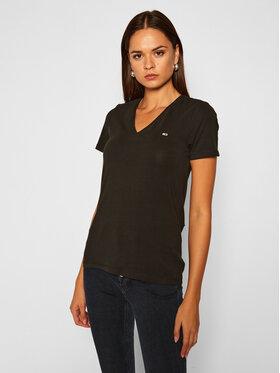 Tommy Jeans Tommy Jeans T-Shirt Tjw Skinny Stretch DW0DW09197 Černá Slim Fit