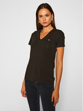 Tommy Jeans Tommy Jeans T-Shirt Tjw Skinny Stretch DW0DW09197 Czarny Slim Fit