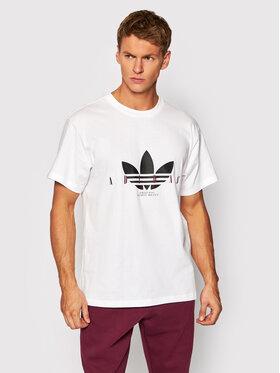 adidas adidas T-Shirt Trefoil Script H31330 Biały Regular Fit