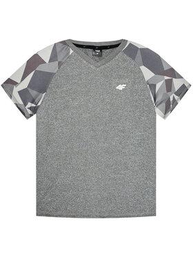 4F 4F T-shirt technique HJL21-JTSM014 Gris Regular Fit