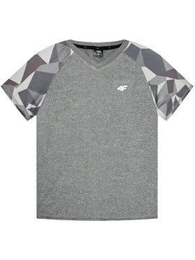 4F 4F Techniniai marškinėliai HJL21-JTSM014 Pilka Regular Fit