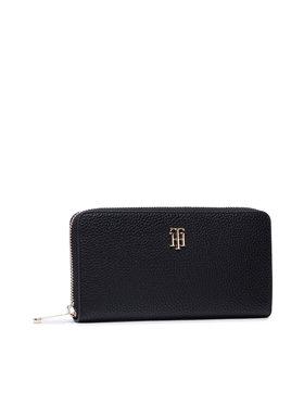 Tommy Hilfiger Tommy Hilfiger Великий жіночий гаманець Th Essence Large Za AW0AW10291 Чорний