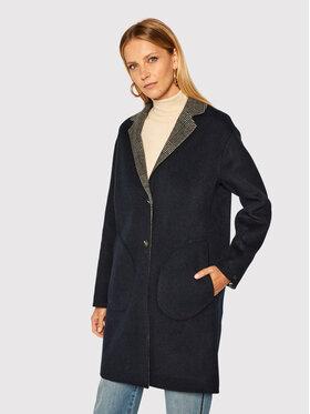 Tommy Hilfiger Tommy Hilfiger Μάλλινο παλτό Alison Rev WW0WW28032 Σκούρο μπλε Regular Fit