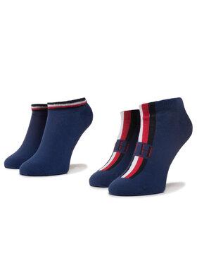 TOMMY HILFIGER TOMMY HILFIGER Sada 2 párů nízkých ponožek unisex 320204001 Tmavomodrá